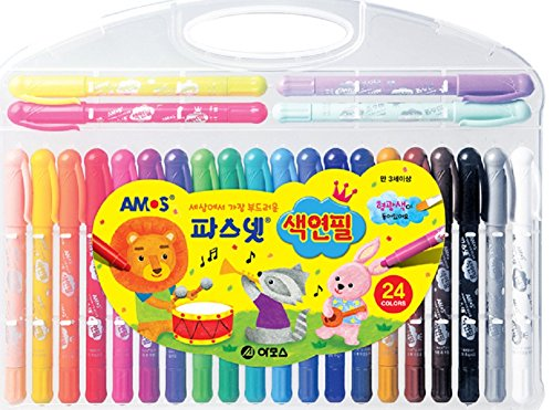 Amos Pasnet Twistable Soft Crayon Colored Pencils(24 Colors)