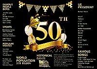Wz 7x5FT50歳の誕生日の背景サプライズをテーマにした誕生日パーティーの写真の背景50歳の誕生日の装飾バナー11-758