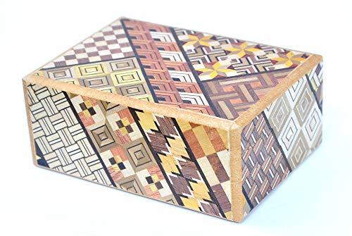 Logica Jeux, Art. Coffret Yosegi 12 - Coffret Secret - Casse-tête en Bois - 12 Etapes - Boîte à Secret Japonais