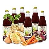 Carioni Food & Health Zumo multivegetal, extracto puro de verduras 100 %, limado, 0,75 litros, paquete de 6 unidades