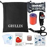 GRULLIN 38 Piezas Accesorios de Primeros Auxilios Kit complementario, Emergency Blanket, V...