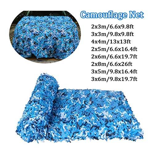 3x6 / 10x19ft Chasse Camouflage Net Outdoor Ocean Blue stand étanche Rot-Résistance Mold-Résistants à la Guerre Convient jeu Sports Camping (Color : -, Size : 5x5m/16x16ft)