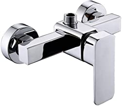 Modern Chrome Wall Mounted Shower Faucet Shower Mixer Valve Control Switch Bathroom Tap for Cold and Hot Water
