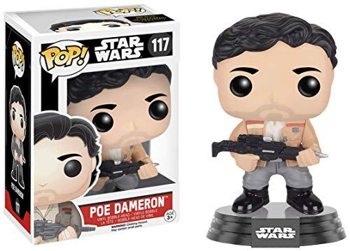 "Funko 9624 Star Wars 9624 ""Pop Bobble E7 TFA Poe Dameron Resistance Figure"
