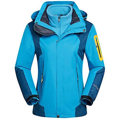 Volwassen Outdoor Jas Vrouwen Ski Jas Hooded - Vrouwen Tweedelige Set Fleece Inner Warm Jas Waterdicht Winddicht Afneembaar Warm Pak Rood Blauw Paars
