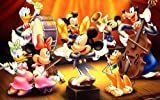 FDHGF DIY Adult Puzzle 1000 Pieces,Concierto de Mickey Mouse de Dibujos Animados,Regalo de Juguete Juego Educativo para niños.