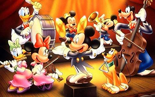 UIUY 1000 Teile Impossible Puzzle, Mickey Mickey Donald Duck Anime Film (3), Geschenkspiel Hintergrund Holzpuzzleteile Erwachsene Geschicklichkeitsspiel für die ganze Familie