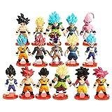 Dragon Ball Figure 16Pcs Cake Toppers Goku Shadow Tails Personaggi Figure torta Decorazione Bambola Fatta a Mano Bambola Compleanno Decorazione per Bambini