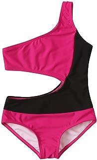 Toddler Kids Baby Girls One Piece Patchwork Swimsuit Swimwear Bathing Suit