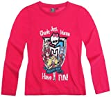 Monster High Tee Shirt Manches Longues Fille Have Fun' Rose foncé 14ans