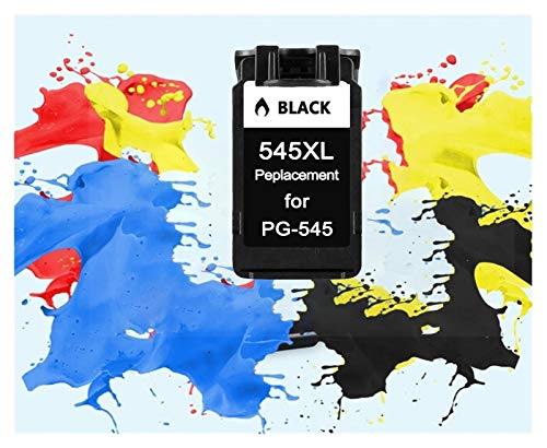 ZIJ Cartucho de Color Tri ColoInk PG545 CL546 Negro Tinta for Canon PG 545 CL 546 Pixma IP2850 MG2450 MG2550 MG2950 MX495 Impresora NS28 (Color : 1 Pack Black)