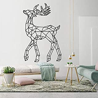 Sika Deer Geometric Creative Pattern Wall Stickers Living Room Home Art Decoration Vinyl Wall Decals Bedroom Stickers 69x42cm