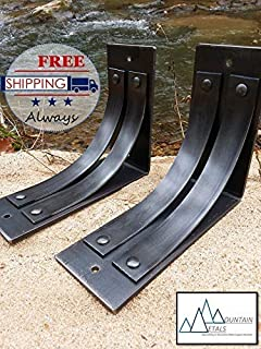 "One 8""x10"" Iron support Bracket, Mantel Bracket, Shelf Bracket, Corbel"