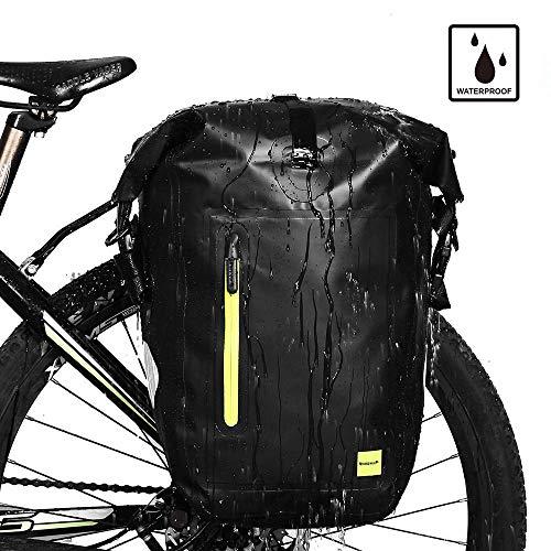 Waterproof Cycling Double Pannier Bag Bike Rear Rack Double Pannier Storage PVC