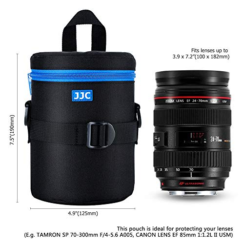 JJC Deluxe Lens Case Pouch for Canon EF 24-70mm f2.8L/EF 16-35mm f2.8L/EF 85mm f1.4L/EF 70-300mm f4-5.6 IS USM,Nikon AF-S 24-70mm f2.8/AF-P 70-300mm f4.5-5.6E and other Lens below 3.93