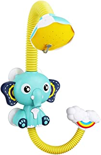 TOYANDONA Baby Toy Electric Cartoon Elephant Water Spraying Toy Elephant Water Pump Body Shower Spout Rinser for Baby Infa...