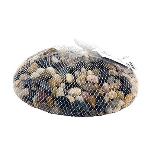 Rayher Filet de Petits Galets Couleur Bruns Moyens Assortis décoratifs, 1 Kilo de Gravier de rivière Naturel Lisse de 1 à 2cm