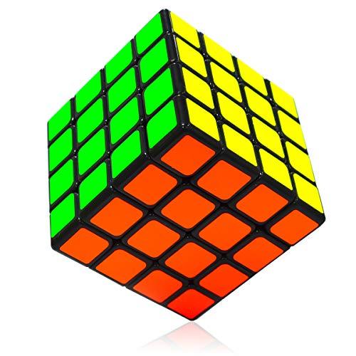 Maomaoyu Cubo Magico Original 4x4 4x4x4 Profesional Speed Cube Niños Juguetes Educativos Negro
