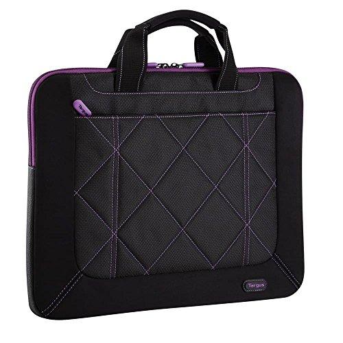 Targus Pulse Shockproof, Weather-Resistant Slipcase for 16-Inch Laptop, Black/Purple (TSS57401US)
