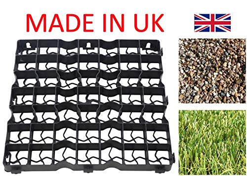 Neat Plastics Gravel/Grass Grid Paver Path Base Mat FOR Greenhouse Deck Turf Lawn Shed Garden (8, (2m²))