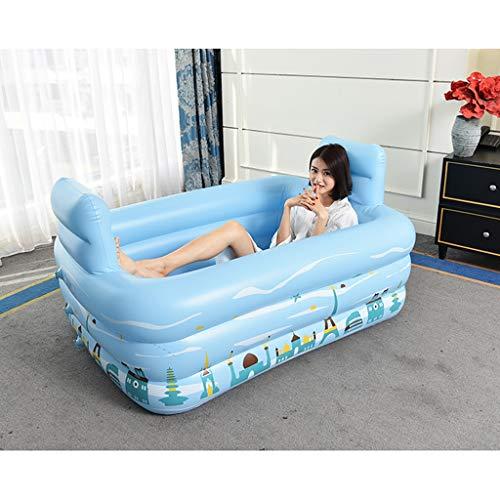 Inflatable tub Baignoire double gonflable portable pliable en plastique Tylish - Baignoire confortable - Deux paires de passions
