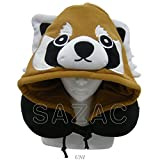 Sazac Süsse Nackenkissen Nackenstützkissen Tiere für die Reise (Roter Panda)