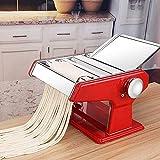 GAOJINXIURZ Máquina de pasta, máquina de fideos para el hogar, máquina manual de acero inoxidable con engranajes ajustables engrosamiento DIY y delicioso para fideos/fideos anchos