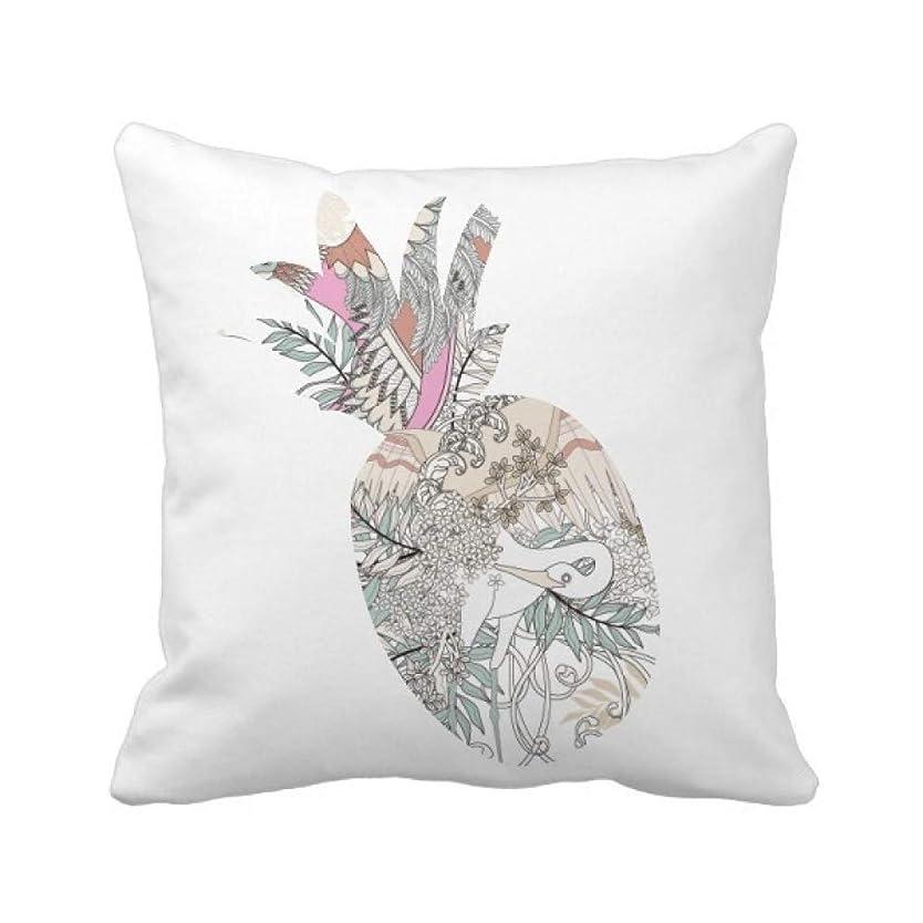 老人キャプチャー道徳教育花の木の鳥の浮世絵の葉 パイナップル枕カバー正方形を投げる 50cm x 50cm