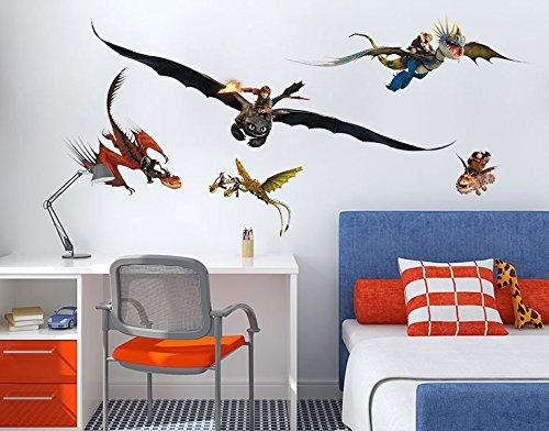 Klebefieber Wandtattoo Dragons Drachenset B x H: 100cm x 51cm