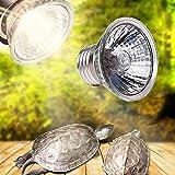 UVB Reptile Heat Lamp Bulb,50W UVB 3.0 Full Spectrum Reptile Lamp Bulb Turtle Basking UV Light Bulbs Sunbathe Heat Lamp Amphibians Lizards Temperature Controller