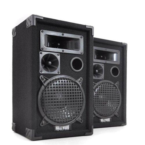 Hollywood 600 Watt Paar 3-Wege Boxen PA-Lautsprecher DJ-Pro 8