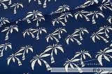 Mamasliebchen Jersey-Stoff Hawaii #Blue (0,5m) Palme
