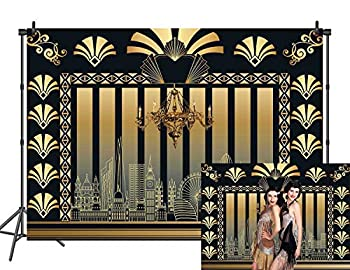 DANIU 7x5FT Roaring 20s Theme Backdrop The Great Gatsby Photography Background Retro Birthday Wedding 1920s Party Decor Adult Celebration Photo Booth Prop