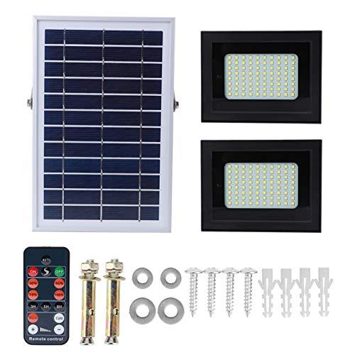FOLOSAFENAR Lámpara de Pared Solar de conversión fotoeléctrica anticaída de luz de inundación para Exteriores de Alto Brillo de energía Solar, para Patio Trasero