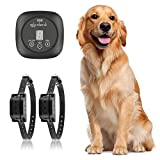 TTPet In-ground/Aboveground Pet Containment System, Electric Dog Fence, IP66 Waterproof & Rechargeable Collar, Shock&Tone Correction, 700Ft Wire, Support 2 Dogs