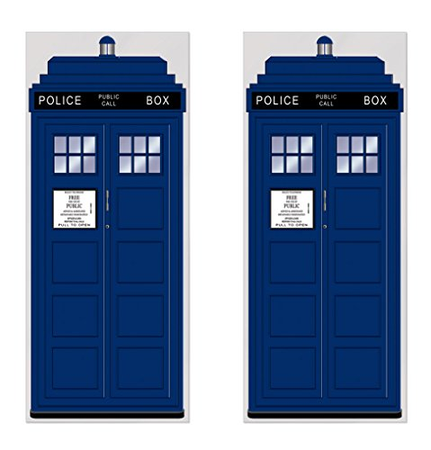 """Beistle 2 Piece Police Call Box Door Covers, 30"""" x 6' Party Decorations, Multicolored"""