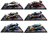 - Lote de 6 Coches de Rally 1/43 Ixo compatibles con VW Polo WRC + Citroen DS3 + Lancia Stratos + Citroen C3 + Ford Fiesta RS + Compatible con Renault Clio S1600 (BR1 + BR2 + BR3 + BR4 + BR8 + BR9)