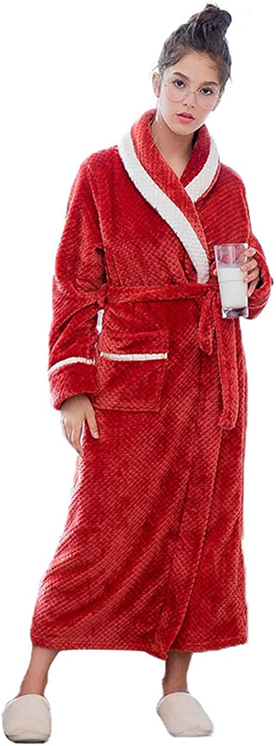 Premium Turkish Cotton Waffle Weave Lightweight Kimono Spa Bathrobe for Women (color   RED, Size   XL)
