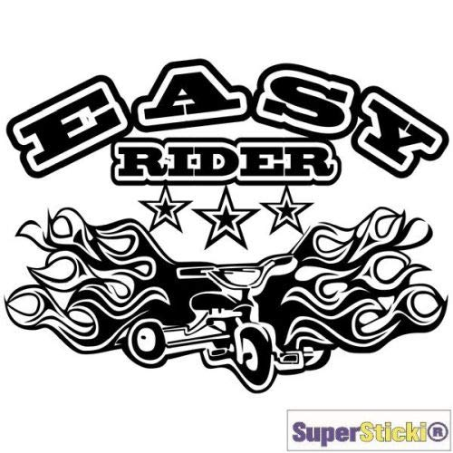 SUPERSTICKI Easy Rider driewieler vuur tribal autosticker 15 cm autosticker tuning racesport hobby deco decoratie A1322 hoogwaardige folie sticker autosticker tuningsticker hoog