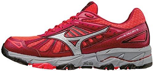 Mizuno Wave Mujin 3 (w), Zapatillas de Running para Asfalto para Mujer, Rosa (Diva Pink/Silver/Persian Red), 36.5 EU