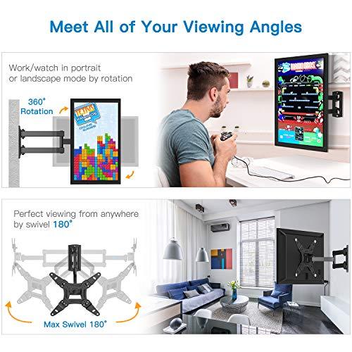 Support Mural TV pour écrans 13-42 Pouces LED LCD et courbé Support TV Inclinable et orientable - Support TV avec VESA Max de 200x200mm Capacité Max de 20kg