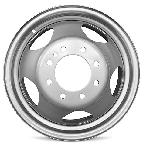 Road Ready Car Wheel For 2008-2010 Chevrolet Silverado 3500 GMC Sierra 3500 17 Inch 8 Lug Silver Steel Rim Fits R17 Tire - Exact OEM Replacement - Full-Size Spare