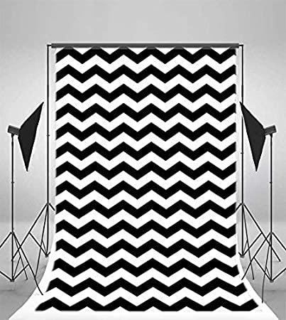 H x2.5 M Photo Studio Prop SZZWY 6X8FT Vinyl Photography Background Black and White Stripes Backdrop Party Artistic Children Adults Photo Backdrop 1.8 W
