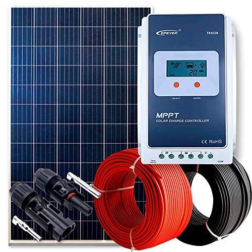 WccSolar Kit 260W 12V y 24V Panel Solar Placa Caravana Autocaravana Furgoneta Barco