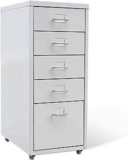 Tuduo fichier avec 5tiroirs Gris métal Robuste, résistant, Design Unique Armoire bibliothèque pour Bureau Armoire Salle d...