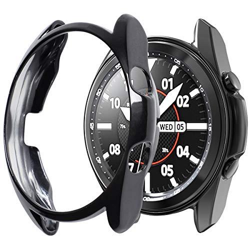 Syxinn Schutzhülle für Samsung Galaxy Watch 3 45mm 41mm Überzug TPU Kratzfestes Gehäuse Hülle Display Abdeckungen für Galaxy Watch 3 45mm 41mm