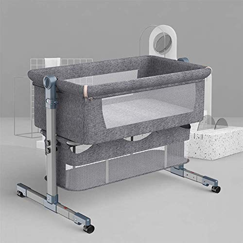 Dratal 3 in 1 Baby Bedside Bassinet for New Born, Arms Reach Side-Sleeper for Infants, Adjustable Portable Bed with Storage Basket, Lightweight & Easy Folding Portable Baby Crib for Boys and Girls