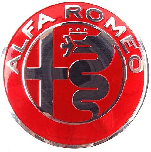 4 Piezas Coche Tapas Centrales Llantas para Alfa Romeo Mito 147 156 159 166 Giulietta Spider, 56mm Tapacubos Coche Insignia del Polvo Accesorios de Estilo