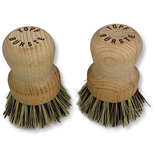 Topfbürste aus Holz, Spülbürste nachhaltig produziert aus einheimischem Buchenholz, Pfannenbürste mit Naturborsten , kein Asienimport sondern lokal hergestellt, plastikfrei ohne Chemie und Plastik