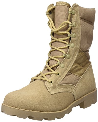 Mil-Tec US Army Desert Combat Jungle Patrol Mens Boots Tan Suede Leather Khaki